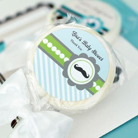 Little Man Party Personalized Lollipop Favors