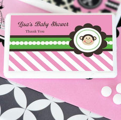 Pink Monkey Party Personalized Mini Mint Favors