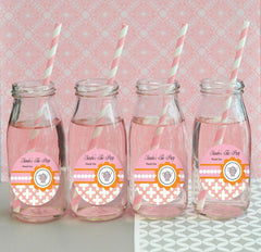 Tea Party Personalized Milk Bottles