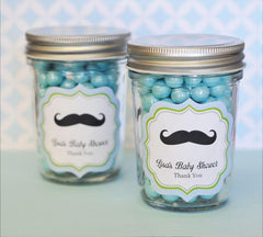Little Man Party Personalized Mini Mason Jars