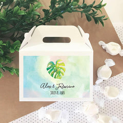 Personalized Tropical Beach Mini Gable Boxes (set of 12)