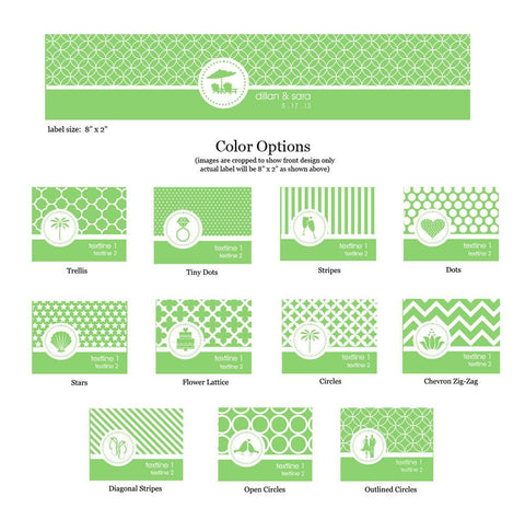MOD Party Theme Water Bottle Label - Set of 24