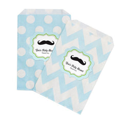 Little Man Chevron & Dots Goodie Bags (set of 12)