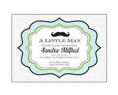 Little Man Party Invitations