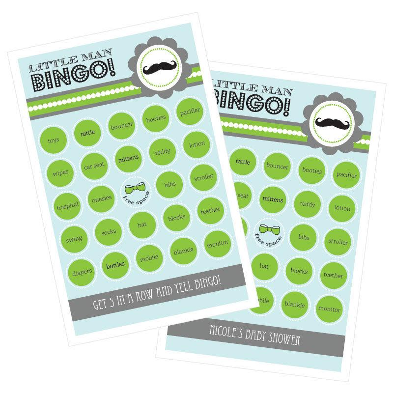 Little Man Party Bingo (set of 16)