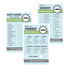 Baby Shower Games (Set of 10) - Little Man