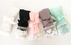 Cotton Lace Robes - Bridal Party Personalization Available