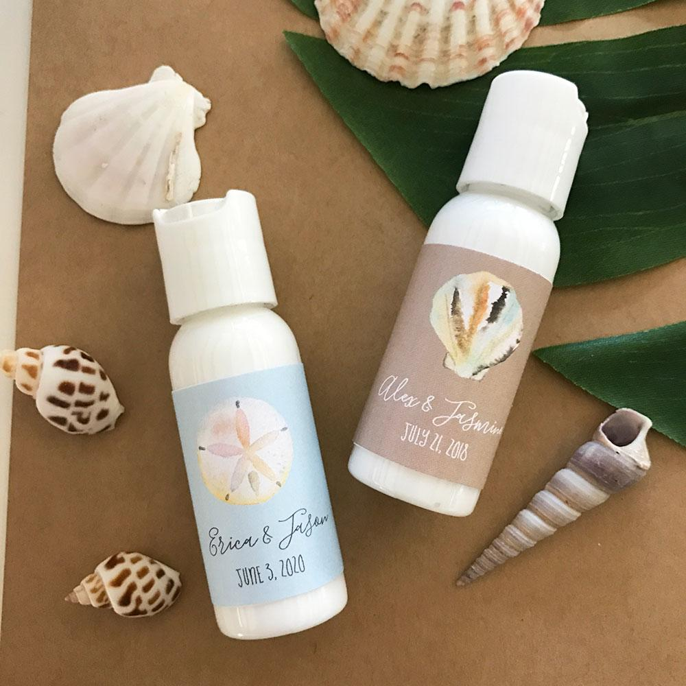 Personalized Tropical Beach Lotion