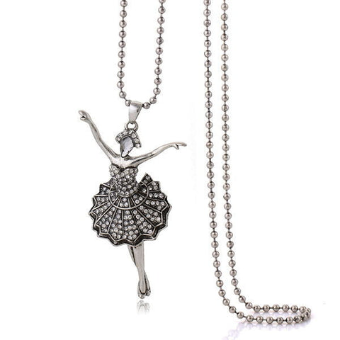 Ballerina Silver Necklace