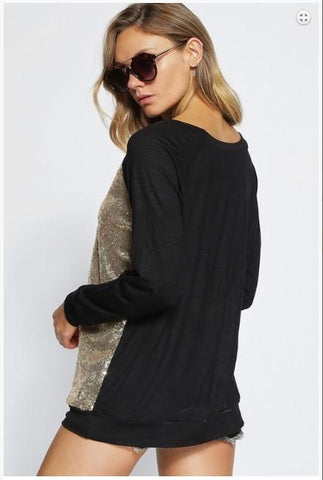 Jennifer Jersey Knit Pull Over with Sequins