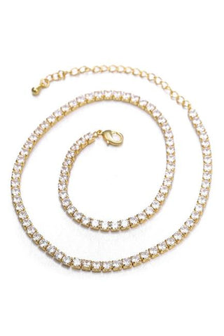 Zircon Chain Necklace