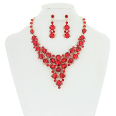 Halo Fashion Stone Necklace Set