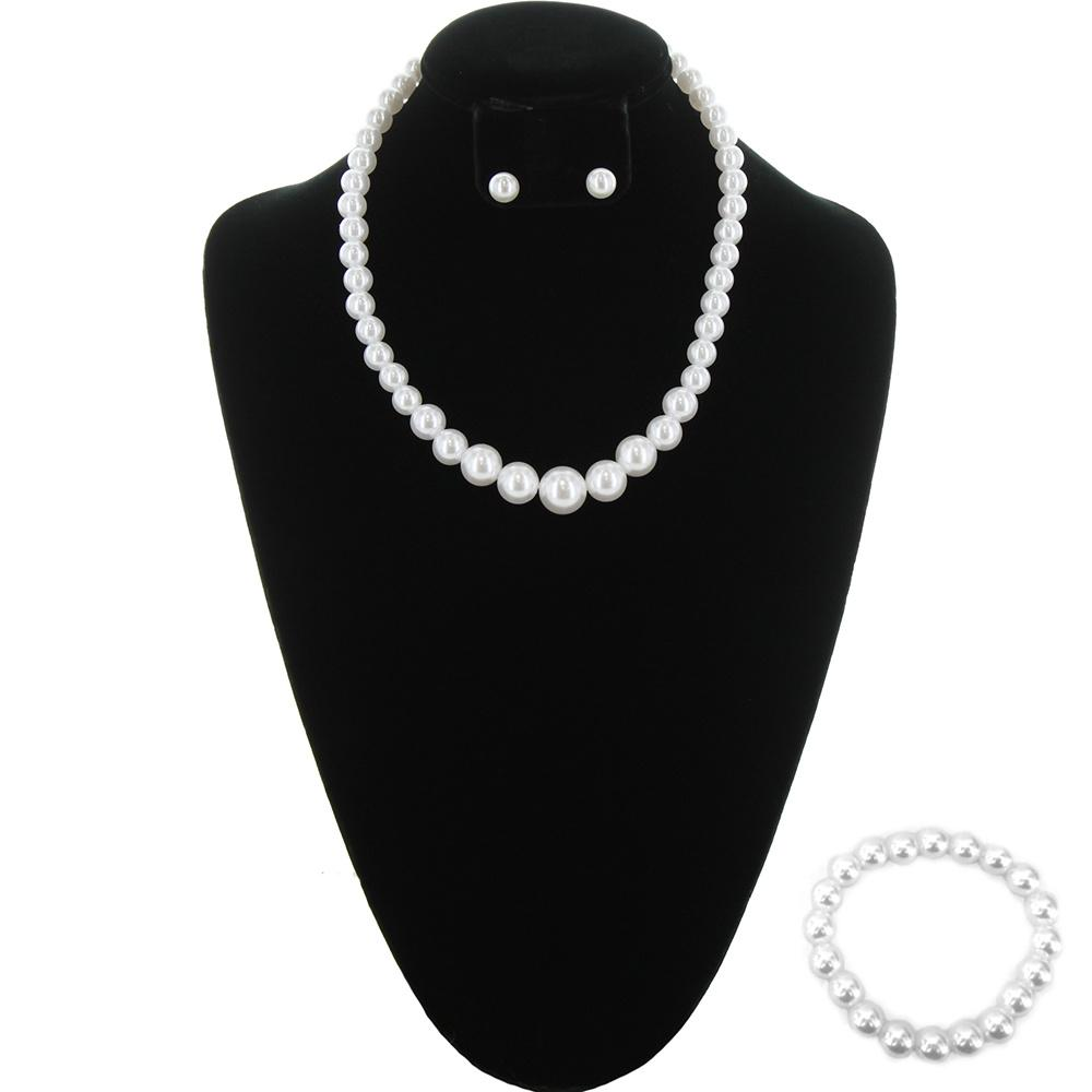 White Simple Pearl Necklace
