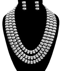 Three Layered Chain Necklace Set