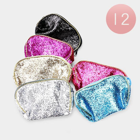 Sequin Mini Pouch Bag