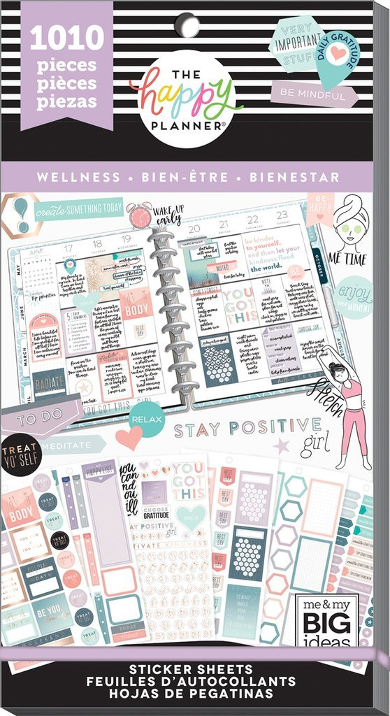 Happy planner Value Pack Stickers - Wellness