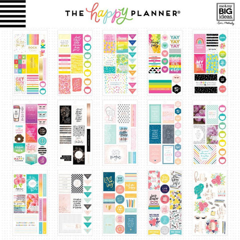 Happy Planner Value Pack Stickers - Happy Quotes