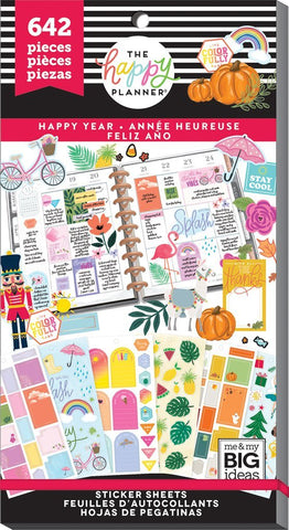 Happy Planner Value Pack Stickers - Happy Year