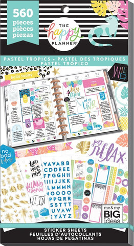 Happy Planner Value Pack Stickers - Pastel Tropics