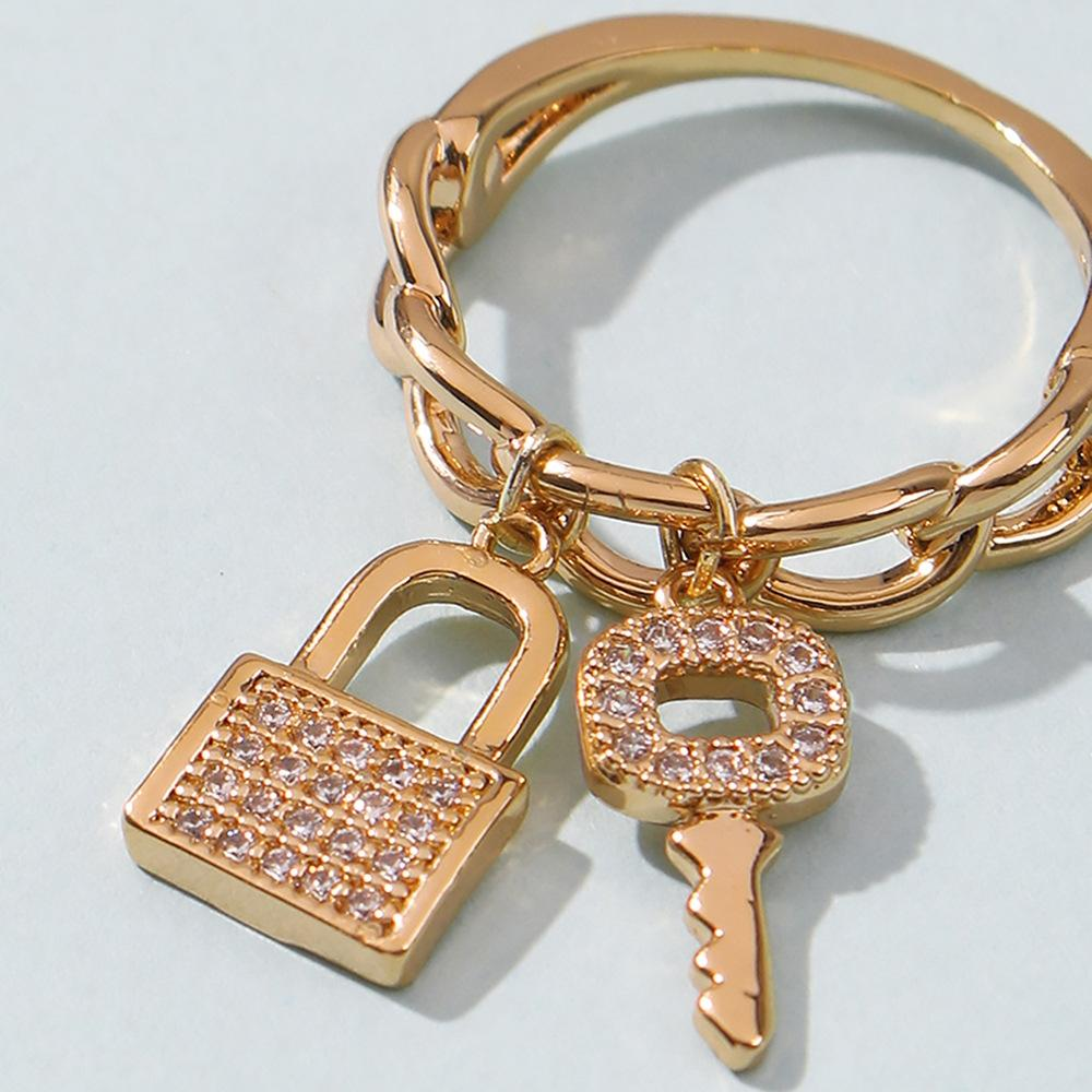 Zircon Lock & Key Rings