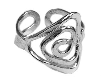 Silver Plated Spiral Ring