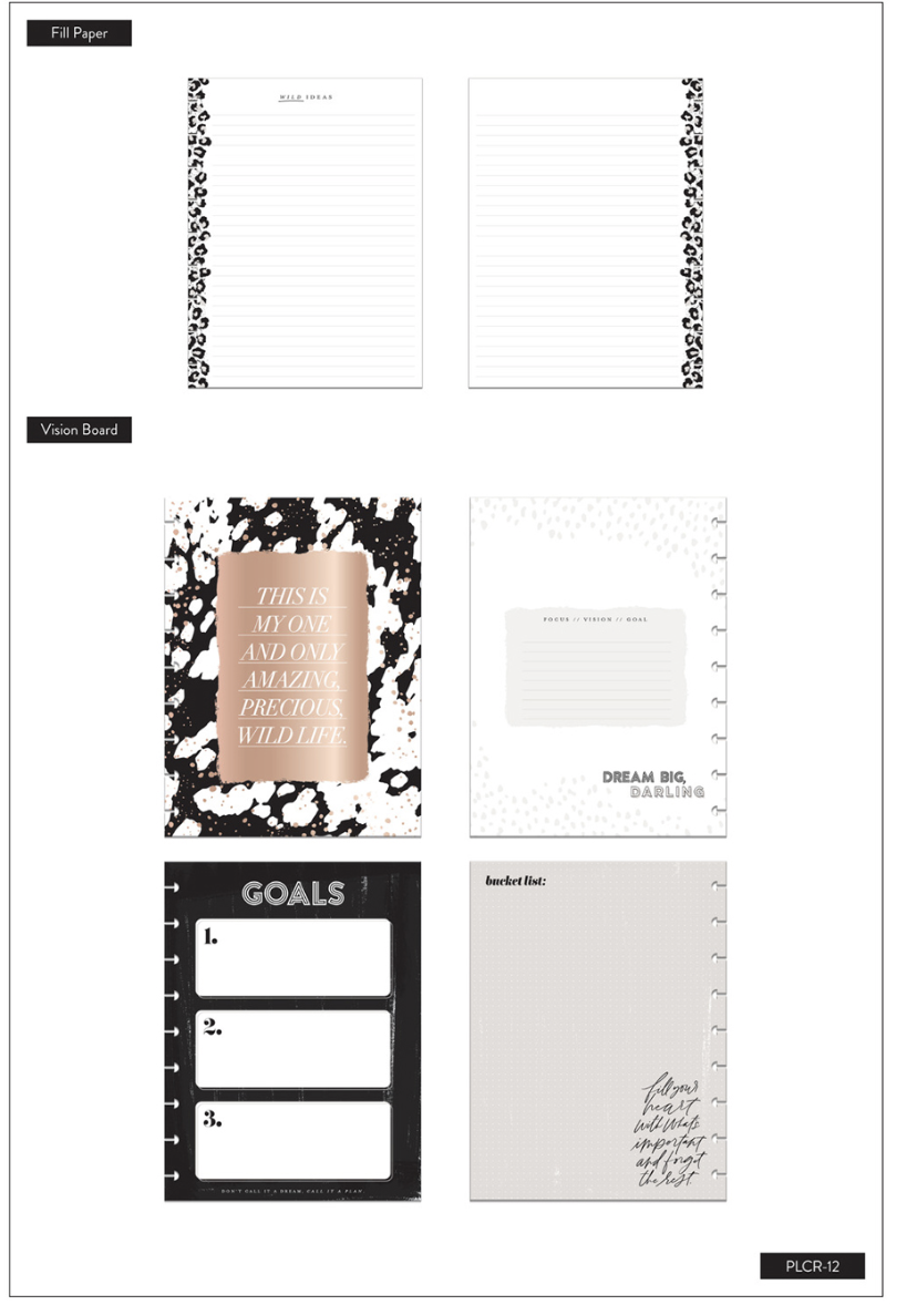 The Happy Planner Wild Styled Planner Companion