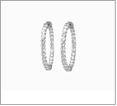 Lisa Cubic Zirconia Hoops