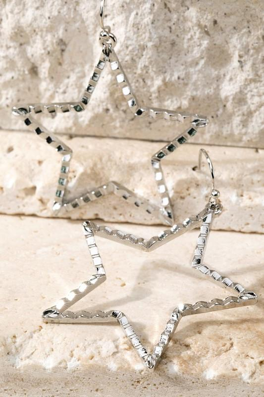Texture Star Earrings