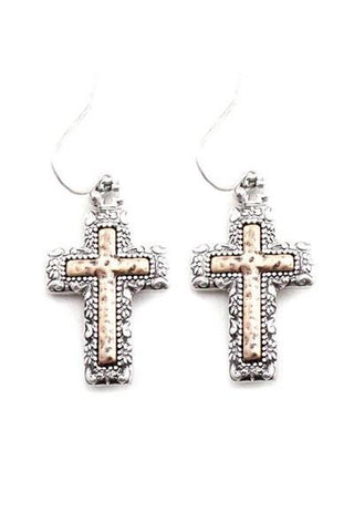 Cross Hook Earrings