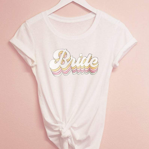 Retro Bride - Bride to Be - Bridesmaid Shirts