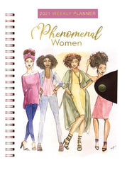Phenomenal Woman, Phenomenal Women 2021 Weekly Planner, Planners, African American Art, Black Art, Stationery