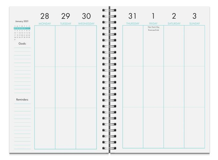 Sister Friends 2021 Weekly Planner
