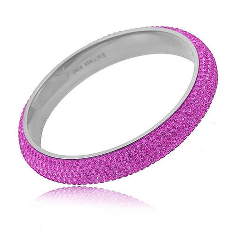 Hot Pink Fuchsia Crystal Bangle