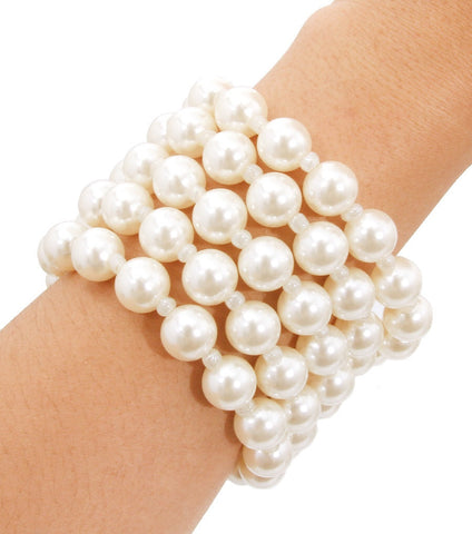 Stretchy Pearl Layers Bracelets