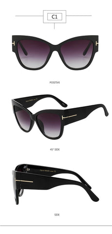 Cat Eye Sunglasses with Gradient Lens