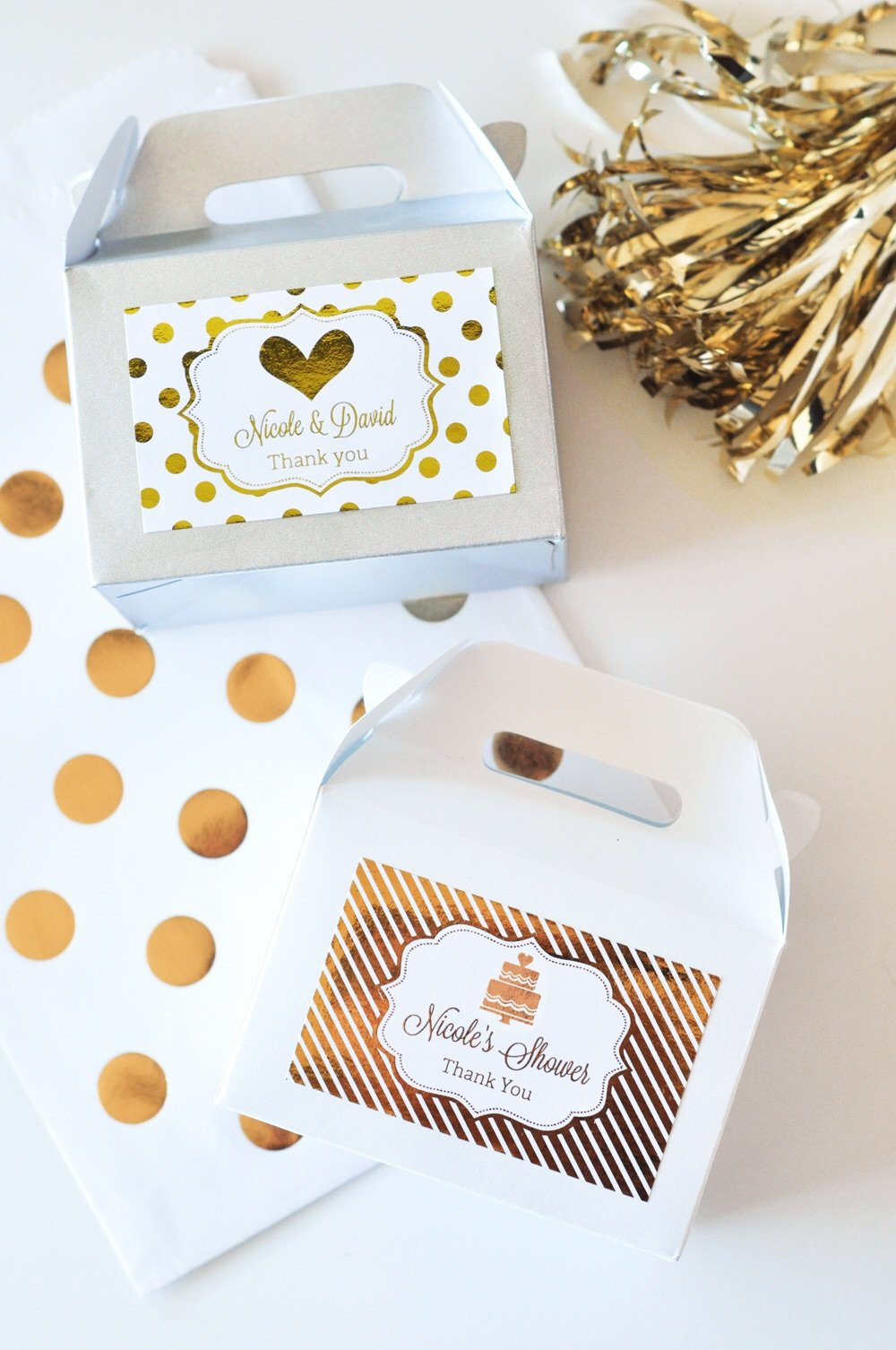 Metallic Foil Party Favors