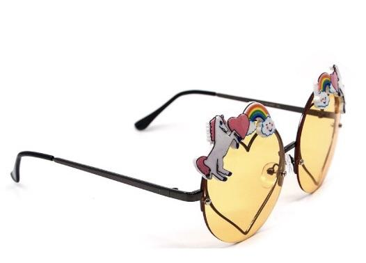 Unicorn and Heart Sunglasses