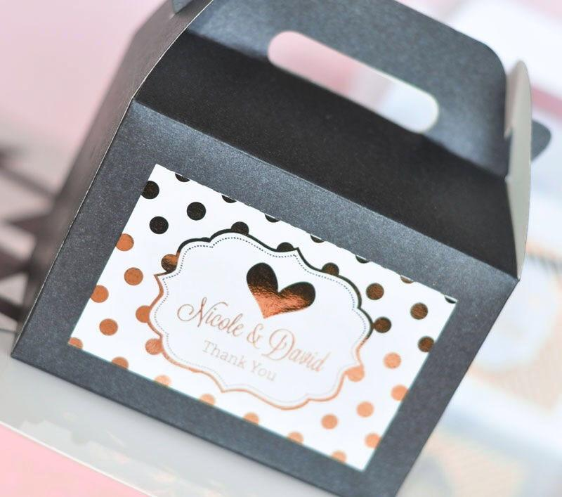Personalized Metallic Foil Gable Boxes