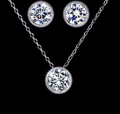 Amelia Silver Necklace Set