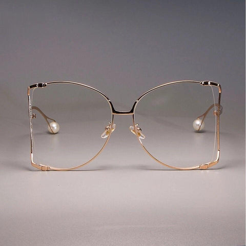 Oversized Gold Frames with Pearl