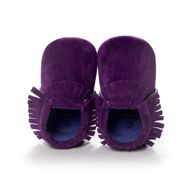 Suede Newborn and Toddler Moccasins