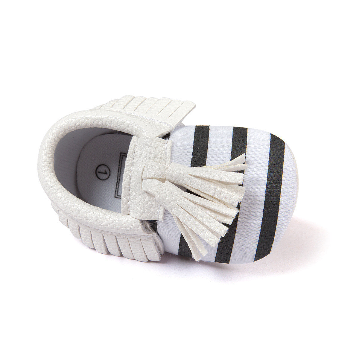 Striped Baby Moccasins