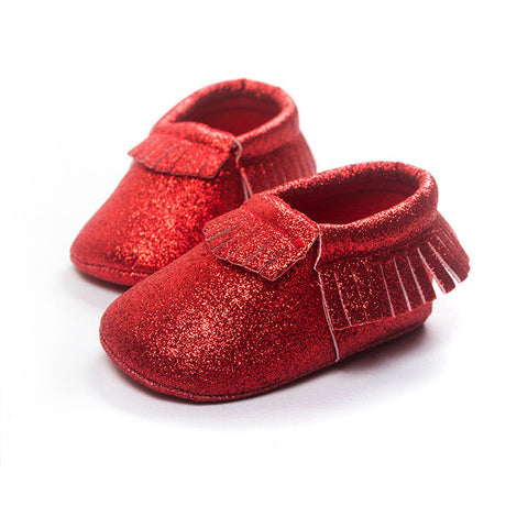 Bling Metallic Glitter Baby/Toddler Moccasins