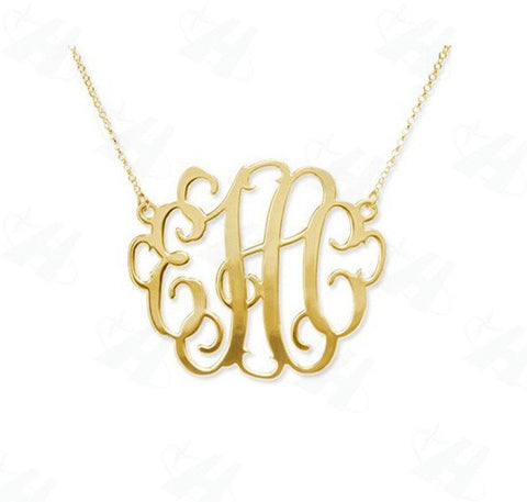 Custom Monogramed Necklace