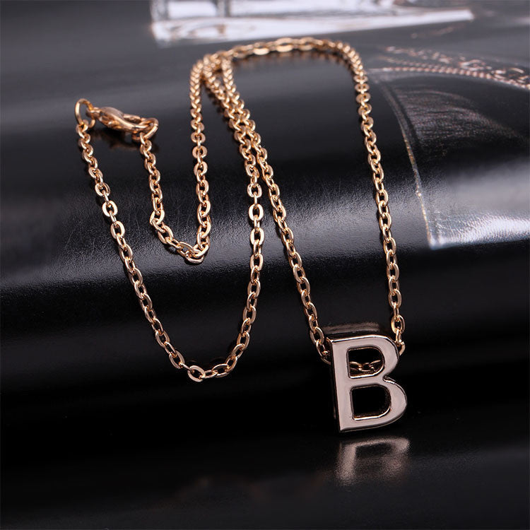 B Name Necklace