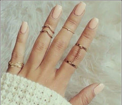 Gold Plated Stacking Midi Ring Set