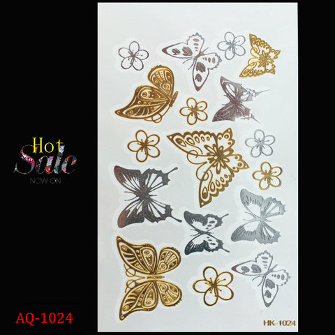 metallic tattoo temporary Butterfly  stickers