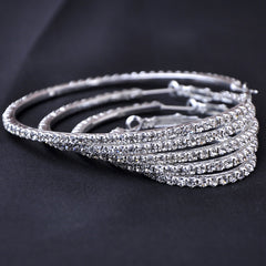 Crystal CZ Large Hoop Earrings