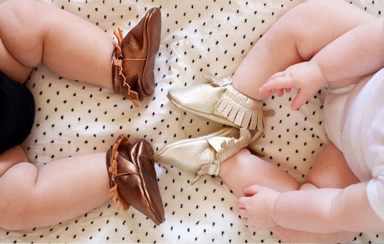 Newborn Baby First Walkers Moccasins Soft Soled Shoes