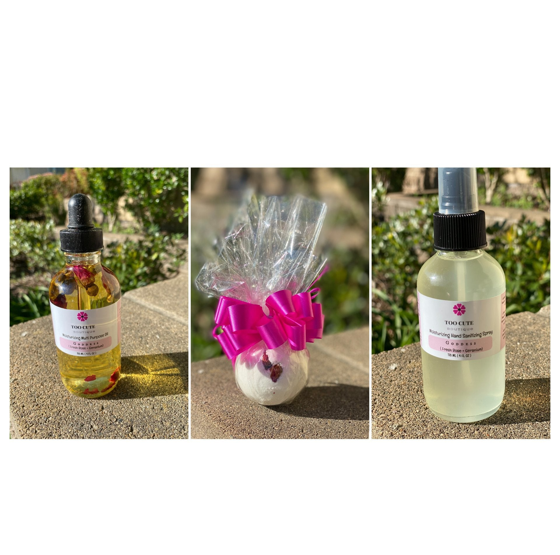 hand sanitizers, body oils, essential oils, bath bombs